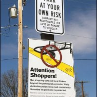 Invisible Fence Shopping Cart Anti-Theft Sign