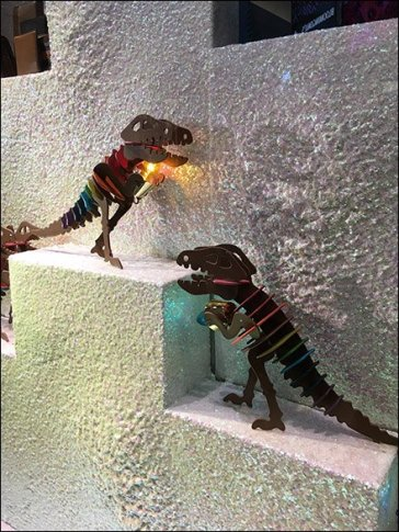 Tyrannosaurus Rex Dominates Coach Windows