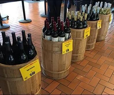 Cashwrap Queue Wine Bottle Barrel Lineup