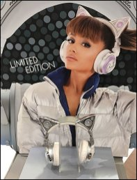 Brookstone Ariana Cat Ear Bluetooth Headphones 2