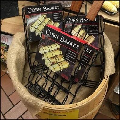 Corn Grilling Basket Rustic Barrel Merchandising