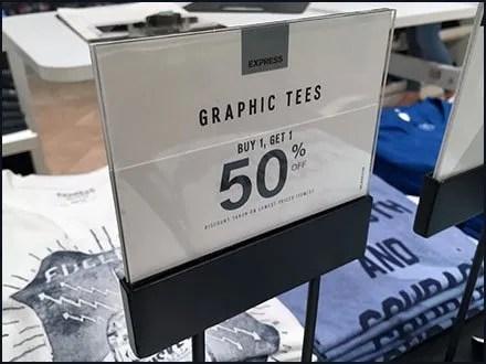 Expansive T-Shirt BOGO Buffet At Express
