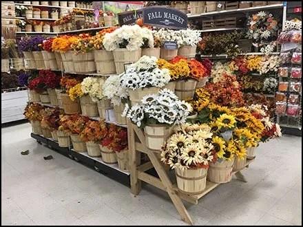 Fall Market Bushel Basket Floral Display