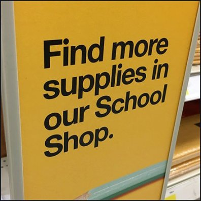 Find More School Supplies Shelf-Edge Sign