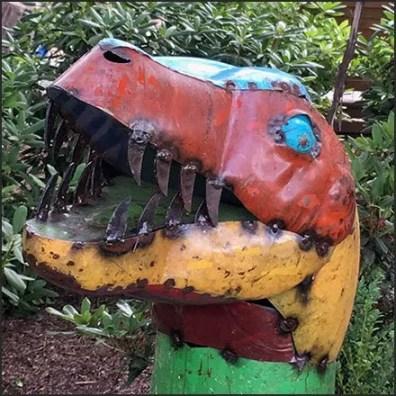 Garden Center Dinosaur Scrap Metal Merchandising