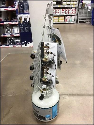 Gas Cylinder Base Strip Merchandiser Tower