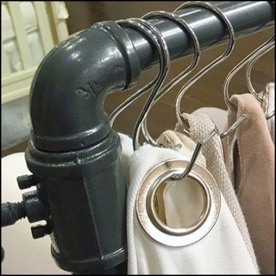 Grommeted Fabric Sample S-Hook Hanger Feature