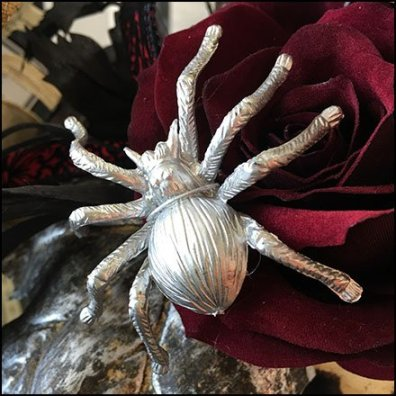 Halloween Silver Spider Fashion Accessory