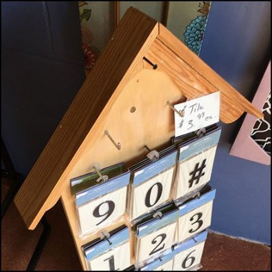 House Street Address Tiles Display Feature