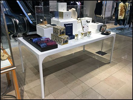Nordstrom Men's Gifts Trestle Table Display