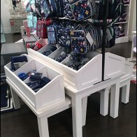 Mated-Pair Trestle Table Bins Display