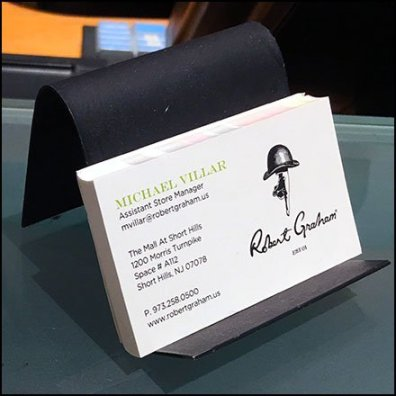 Robert Graham In-Store Business Cards