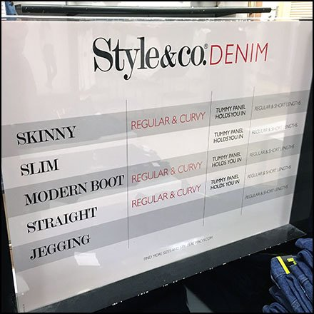 Style & Co Denim Fit Chart For Style Choices Feature