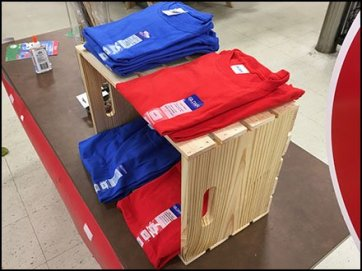 T-Shirt Wood Crate Merchandising 3