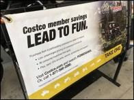 Motorcycle Hero Store Entry Display