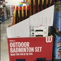 Wilson Branded Badminton Corrugated Display