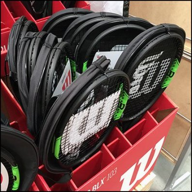 Wilson Branded Tennis Racket Corrugated Display
