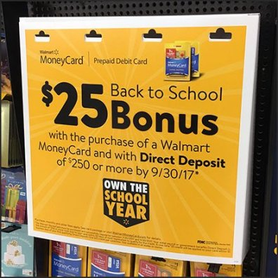 Back-To-School Bonus Money Card Feature
