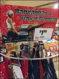Have-An-Attitude Bandana Pole Display Rack