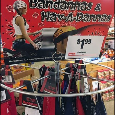 Have-An-Attitude Bandana Pole Display Rack