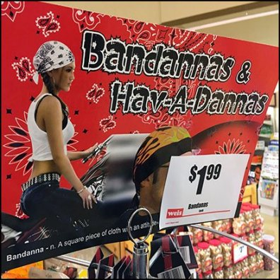 Bandana Pole Rack Feature