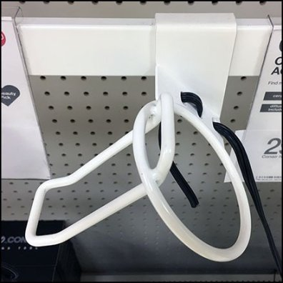 Blow Dryer Holster Bar-Mount Merchandising