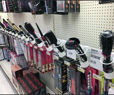 Curling Iron Holster Bar-Mount Merchandising
