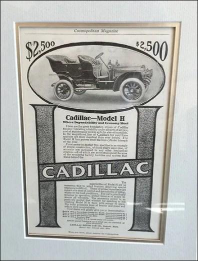 Cadillac Brand Vintage Advertising Framed 2