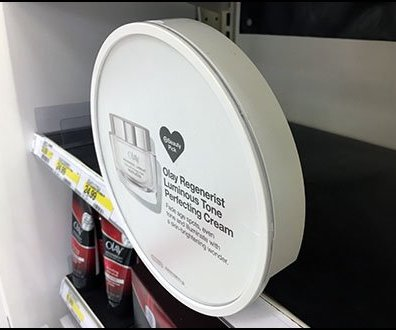 Circular Sign Holder for Shelf Edge