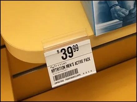 Clip-On Solid Shelf Label Holders