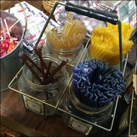 Color Coded Rustic Honey Straw Samplers