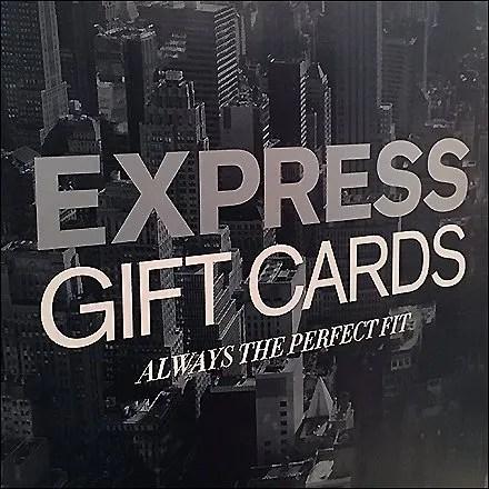 Boxed Gift Card Tower At Express