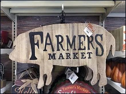 Farmers Market Pig Sign 90º Tip Display Hook