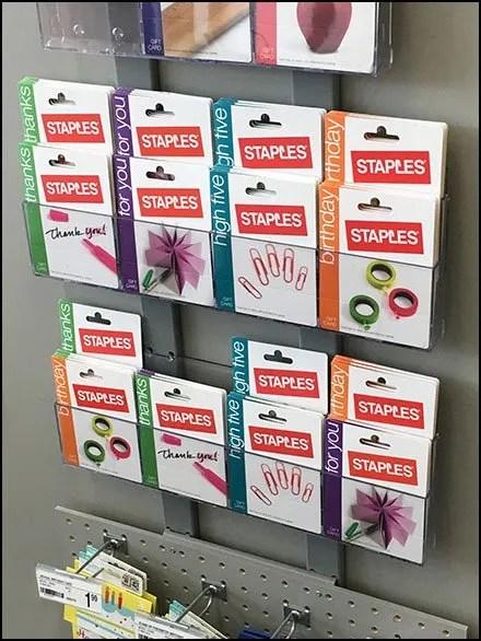 Endcap Stap-Hanger Rack For Gift Cards