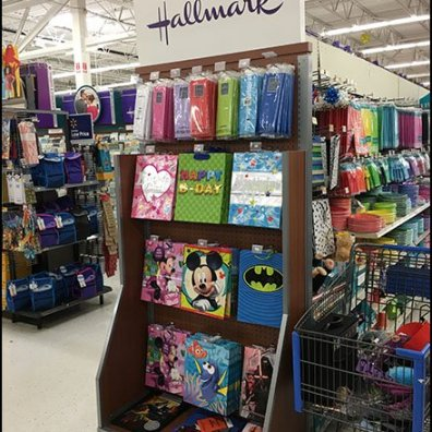 Hallmark Gift Wrap Endcap Display