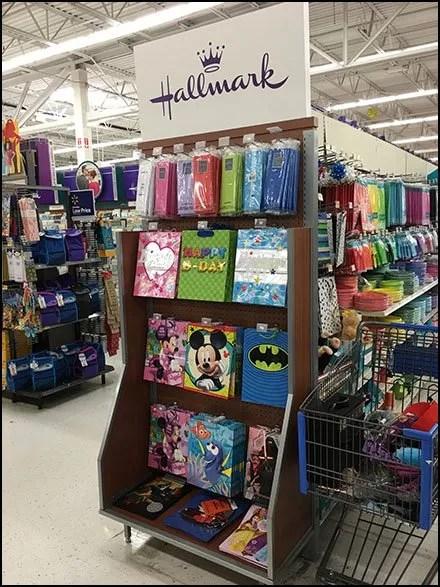 Hallmark Gift Wrap Endcap Display