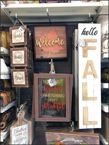 Twine-Tie Hook Display Says Hello Fall