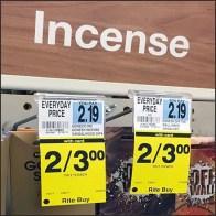 Incense Stick Bib Tag Twofer Merchandising