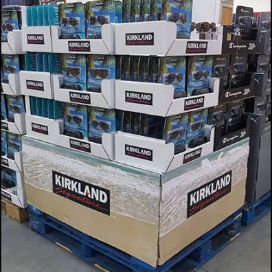 Kirkland Signature Branded Sunglass Pallet Display 3