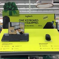 Logiteck Keyboard Corrugated Display De Minimus