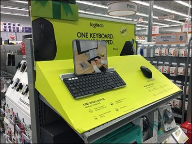 Logiteck Keyboard Corrugated Display De Minimus
