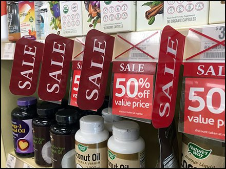 Shelf-Edge Sale Flag by Vitamin Shoppe