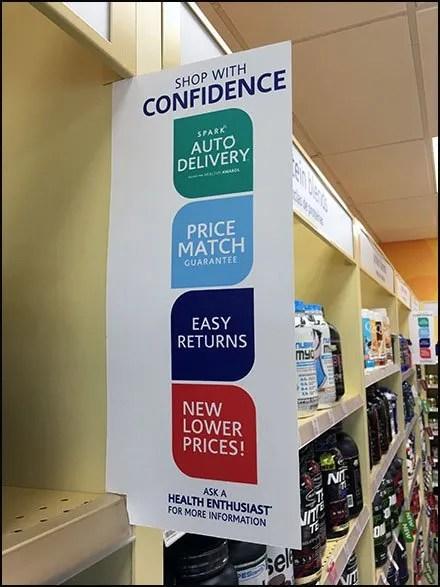 Shop With Confidence Aisle Violator