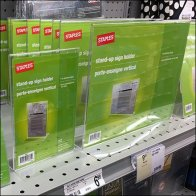 Staples Stand-Up Table-Top Sign Holders Feature