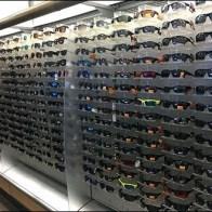 Great Wall of Sunglass Display Trays