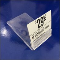 Vitamin Shoppe Table-Top Grip Clip Label Holder Feature