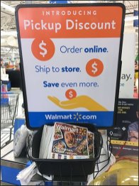 Online Order Pickup Entry Sign Offers Discount
