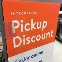 Online Order Pickup Discount Sidekick Sign