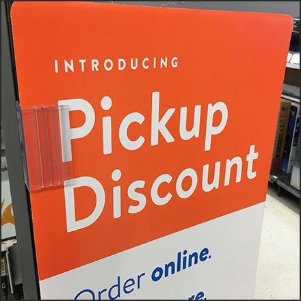 Online Order Pickup Discount Sidekick Sign