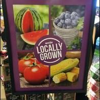 Locally Grown Produce Floorstand Sign
